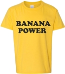 Banana Power T-Shirt - Black Also Available, 1960's, 1970's, retro, mod, hippie, punk, vintage style, Slogan, Counter Culture, Top, Tee