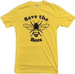Save The Bees T-shirt - Nature, Protest, Wildlife, Planet S-XXL, Various Colours, Save The Planet, Tshirt Top