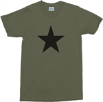 Black Star Military Green T-Shirt - Army, REM, S-XXL