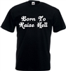 Rocker, Biker, Rock n Roll, Rockabilly, Born To Raise Hell T-Shirt