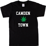 Camden Town 'Ganja Leaf' Souvenir T-Shirt - London, Weed, Cannabis, S-XXL, Gift, Quirky, Different, Craft, Tshirt Top, Bohemian, Hippie, Hippy, Punk