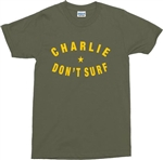 Charlie Don't Surf Star T-Shirt - Retro, 70's, Also In Black/White Prints, S-XXL, Vintage Style, Tshirt Top, Apocalypse Now, Punk, Rock n Roll, Band, Cult