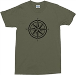 Retro Compass T-Shirt - Various Colours, Tshirt Top, Travel, Navy, Mountaineer