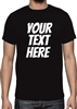 Your Text Here T-shirt - Custom Print, Personalised, Bangers Font, Various Sizes/Colours