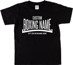 Custom Boxing T-Shirt - Add Your Boxing Name/Nickname, Retro, Various Colours, Personalised, Customised T-Shirt Top, 1970s, Gym, Sport,