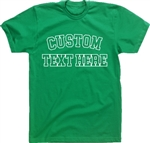 Personalised Custom Printed T-Shirt - College Style, TShirt, Various Cols S-XXL, Football, Sports, University, Team, Tshirt Top