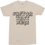 Personalised Custom Printed Retro Graffiti Font T-Shirt - Hip Hop, Various Cols, 1970's, 1980's, 1990's, street art, Rap, Punk, Skateboarder, Tshirt Top