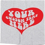 Personalised Custom Printed Heart T-Shirt - Retro, 70's, Valentines Day, Gift, Various Colous, Tshirt Top, Customised