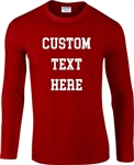 Personalised Custom Printed Long Sleeve Top - College Font, S-XXL, Various Colours, Vintage Style, 1970's, Tshirt Top, Customised, Sport, Varsity, University, 50's, 60's