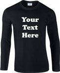 Personalised Custom Printed Long Sleeve Top - Retro Font, S-XXL, Various Colours, Vintage Style, 1970's, Tshirt Top, Customised