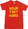 Custom Soviet Style Font T-Shirt - Personalised With Your Text, Various Colours, Russia, Tee, Retro, Russian, Communist Top,
