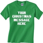 Personalised Custom Printed Christmas T-Shirt - Various Colours, S-XXL, Add Text, Snow Font, Tshirt Top