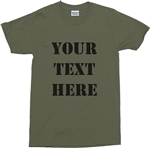 Custom Army Font T-Shirt - Personalised With Your Text, Various Colours, Military, Top, Retro, Customise, Tee