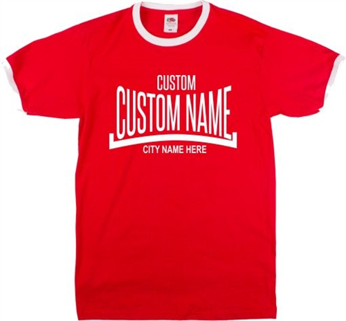 cf93829e6 Custom Boxing Ringer T-Shirt - Add Your Name/Nickname, Retro, Various  Colours, Sport, Personalised, Customised Tshirt ...