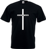 Custom Cross T-Shirt - Add Your Text, Halloween, Horror, Various Sizes