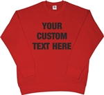 Custom Printed Retro Raglan Red Sweatshirt - 70's, Sweater Top, S-XXL, 1970's, Vintage Style, Personalised