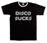 Disco Sucks Ringer T-Shirt - Various Colours Available, Punk, Retro, Vintage Style, 1960's, 1970's, Rock n Roll, Tshirt Top, Tee