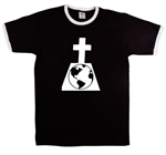Earth Grave Ringer T-Shirt - Climate Change, Planet, Protest, Also In Red, Retro, Tshirt Top,