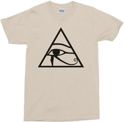 Eye Of Horus T-Shirt - Providence, Symbol, Egyptian, 60s, Retro, Various Colours, 1960s, 1970s, retro, Hippie, Garage Rock, Psychedelic, Psych, Tshirt Top