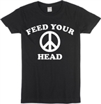 Feed Your Head Ladies Fit T-Shirt - Various Colours, 1960's, 1970's, Jefferson Airplane Retro, Psychedelic,
