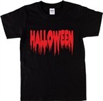 Halloween Dripping Font T-Shirt - Horror, Gothic, Blood, Various Colours, S-XXL, Gothic, Goth, Retro, 60's, 70's, Vintage Style Tshirt Top,