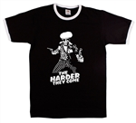 'The Harder They Come' Ringer T-shirt - Jimmy Cliff, All Sizes/Various Colours