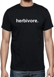 Herbivore Simple Print T-shirt - Vegan, Vegetarian, Political, Protest, Various Sizes/Colours