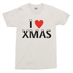 I Heart Christmas T-Shirt - Love Xmas, Various Colours, S-XXL, tshirt top
