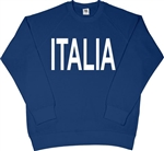 Italia Raglan Navy Blue Sweatshirt - Retro 1940's Olympics Style, Sweater Top, S-XXL, Football, Top, Jumper