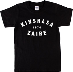 Kinshasa Zaire 1974 T-Shirt - Retro, Boxing, 70's, Also In White, Vintage Style Tshirt Top, Rumble In The Jungle, Muhammed Ali, James Brown, Festival, Rock, Soul, Africa