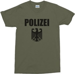 POLIZEI T-Shirt - German, Eagle Logo - Also In Black