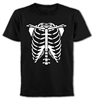 Skeleton Torso T-Shirt - Halloween, Rib Cage, Goth, Horror, All Sizes & Colours