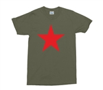 Red Star Army Green T-Shirt, REM, All Sizes & Colours, Protest, as worn by michael stipe, Military, Left Wing,