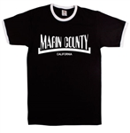 Marin County California T-Shirt - Retro Style, S-XXL, Also In Red, Mountain Biking, Vintage Style Tshirt Top,