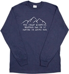 George Perkins Marsh Quote Long Sleeved Unisex Navy T-Shirt Top - Nature, S-XXL, Protest, Ecology, Mountains, Outdoors, Darwin, Tshirt Top