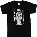 Santa Muerta T-Shirt - Holy Death, Vector, Mexican, Various Colours, Day Of The Dead Tshirts