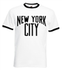 NYC Ringer T-shirt - As Worn By John Lennon, All Size/Colours