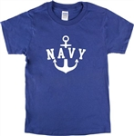 Retro Navy Anchor T-Shirt - Vintage Style Military Top, Also In Blue, S-XXL, Tshirt Sailor, WW2, Portsmouth, 1930's, 1940's, 1950's, Tattoo