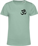 Om Yoga Meditation Symbol T-Shirt - Women's Fit, Organic Cotton, Various Colours, Eco Friendly, Plain, Hindu, Buddhist