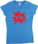 Pow! Ladies Fit T-Shirt, retro, 1960s, 1970s, women's tshirt, top, comic book, pop art, mod, rock & roll, Vintage style