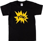 Pow! T-Shirt - Retro, 1960's, 1970's, Pop Art, Comic Book, Psychedelic, Garage Rock, Various Colours, Tshirt top