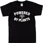 'Powered By Plants' Tree Of Life T-Shirt - Vegan, S-XXL, Various Colours, Vegetarian, Nature, Eco Tshirt Top