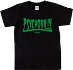 Psychobilly Rebel T-Shirt - Punk, Rock'n'Roll, Rockabilly, Retro, Various Cols, Vintage Style, Logo, Fuzz Rock, Garaage Rock, 50's, 60's 70's, Top Tshirt