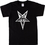Ram Pentagram T-Shirt - Pagan, Wicca, Witchcraft, Satanic, S-XXL, Various Cols, Horror, Retro, Witch, Tshirt Top, Gothic, 70s