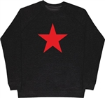 Red Star Black Sweatshirt - Retro, 60's, 70's, Glam, Punk, Protest, S-XXL Top, Sweater, Jumper