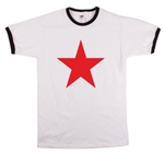 Red Star Ringer T-Shirt - Retro, 1960's, 1970's, Glam Rock, Punk, Various Sizes