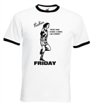 Robin Friday Ringer T-shirt - 'People Say I'm Mad, A Lunatic, I Am A Winner', Football, 70's, Rock'n'Roll - All Sizes, Various Colours