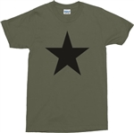 Star T-Shirt  - retro, 1970's, Glam Rock, Army, Military Green, Punk, Punk Rock, Portest, Tshirt Top