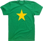'Star' Green T-Shirt - Protest, Retro 70's, Punk, Various Colour Prints S-XXL, Glam, 60's, 70's, Political, Sub Culture, Tshirt Top