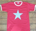 Star Ringer T-Shirt - Glam, 70's Retro, All Sizes & Colours, Rock & Roll, 1960s, 1970s, Vintage Style, Mod